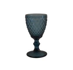 Achat en ligne Verre à pied coloré, motif diamant bleu, 34cl