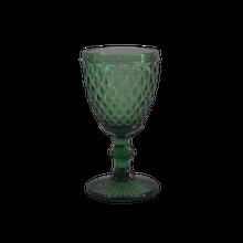 Achat en ligne Verre à pied coloré, motif diamant vert, 34cl
