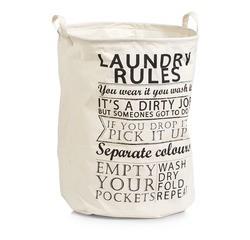 Achat en ligne Panier à linge en textile avec poignée Laundry Rules 38x48cm