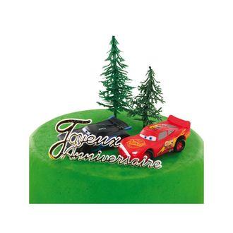 PATISDECOR - kit décor Cars voiture plastique rouge