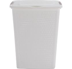 Achat en ligne Panier à linge 50L Country blanc 45x33,8x57,5 cm