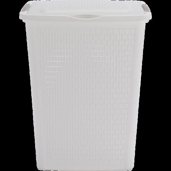 Panier à linge 50L Country blanc 45x33,8x57,5 cm