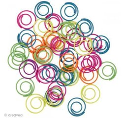 Achat en ligne Assortiment de trombones ronds multicolores