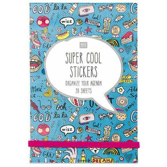 Achat en ligne Carnet de 20 pages d'autocollants Magical Summer bleu