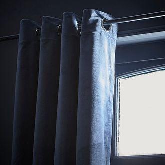 Rideau velours bleu pétrole Delhi 135X300cm
