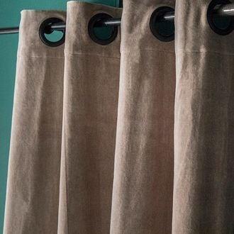 Rideau velours gris craie Delhi 135X300cm