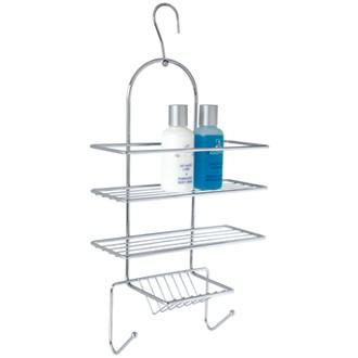 Serviteur de douche à suspendre en métal chromé Clipper