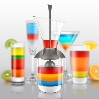 Rainbow cocktail verseur multicouches