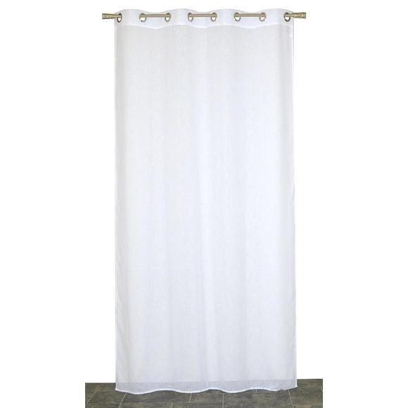voilage aspect lin blanc cass 140x240cm pas cher z dio. Black Bedroom Furniture Sets. Home Design Ideas