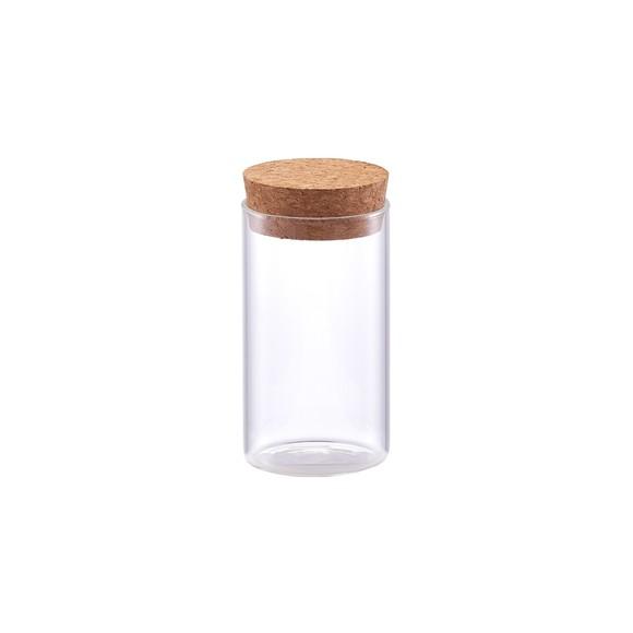 Barattolo di vetro con coperchio in sughero 175ml
