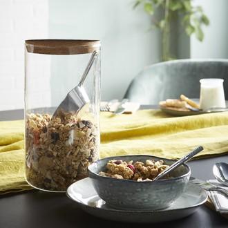 Pot de conservation en verre avec couvercle en liège 1100 ml