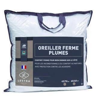 LESTRA - Oreiller rectangle ferme anti-acariens Oie & Canard 45x70cm