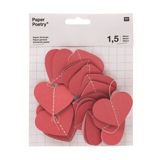 RICO DESIGN - Guirlande papier cœurs