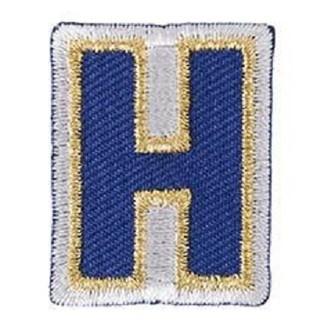 Ecusson lettre H thermocollant