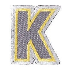 Achat en ligne Ecusson lettre K thermocollant