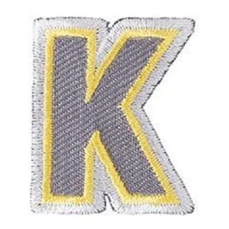 Ecusson lettre K thermocollant
