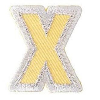 Ecusson lettre X thermocollant