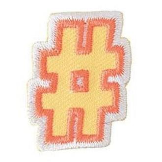 Ecusson lettre hashtag thermocollant
