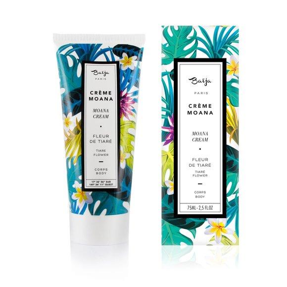 Achat en ligne Crème pour le corps en tube fleur de tiaré Moana 75ml