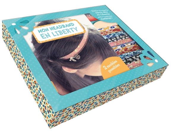 Achat en ligne Mon headband en liberty livre+materiel