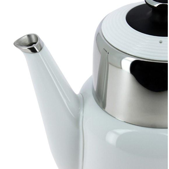 Achat en ligne Bouilloire électrique inox et plastique blanc YONA 1,7L
