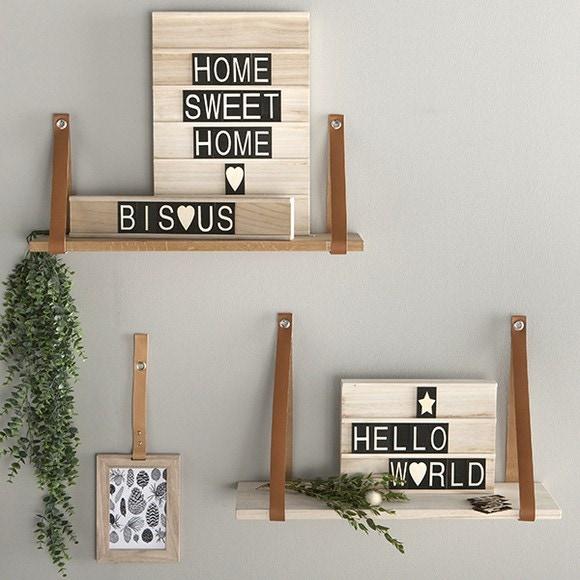 Woodbox allongée + 40 lettres