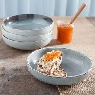 Assiette calotte verte, style artisan, Nori 19cm