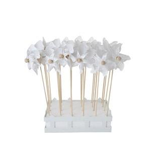 Moulin a vent fleur set24 blanc