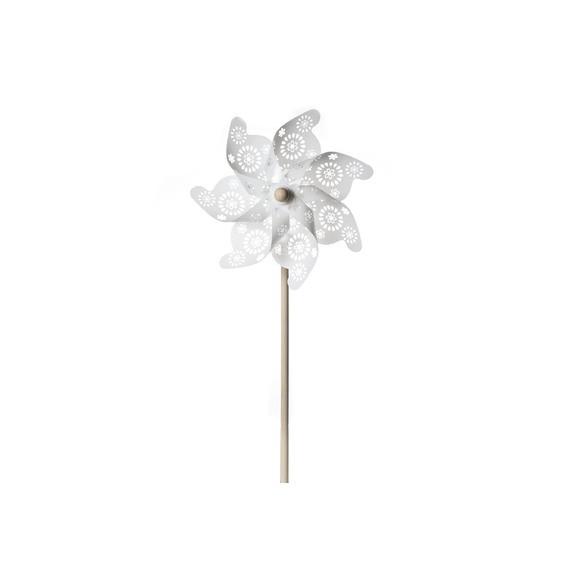 Moulin à vent blanc transparent fleur d22xh46c