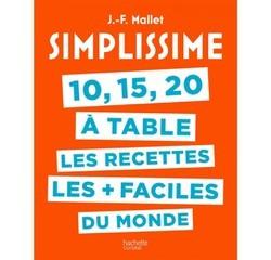 Achat en ligne livre 10 15 20 à Table Simplissime