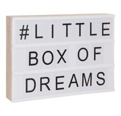compra en línea Caja de luz A4 de madera con 82 letras y símbolos (30 cm)