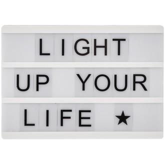 Lightbox bois 82 lettres et symboles A4
