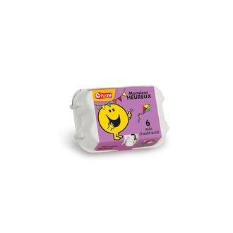 Boite à œufs Mr & Mme 6 œufs en chocolat au lait 37grs 4cm