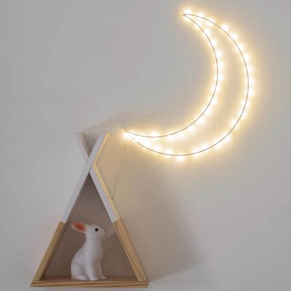 Lune lumineuse à suspendre 46x35cm