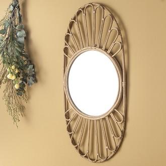 Miroir rotin naturel calanques ovale 70x34cm