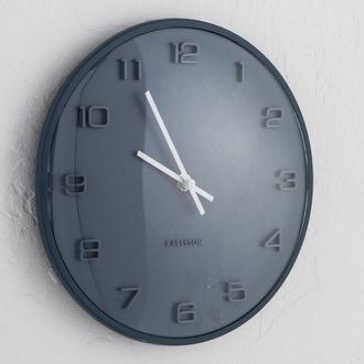 karlsson horloge dome bleu silencieuse 25cm