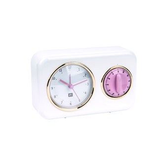 KARLSSON - Horloge et minuteur nostalgie blanc 17x11x6cm