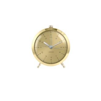KARLSSON - Réveil button laiton silencieux 5x9cm
