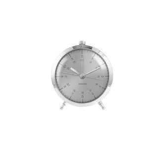 KARLSSON - Réveil button acier brossé silencieux 5x9cm
