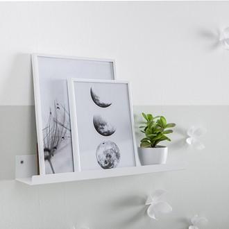 Etagère loft blanc métal mat 49x8x5.5cm