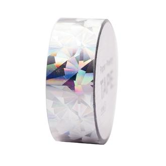 RICO- Masking tape holographique argent géométrique