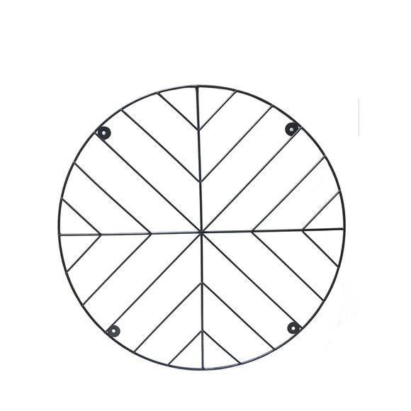 Achat en ligne Pêle mêle Arrow rond métal noir d60cm 7 clips