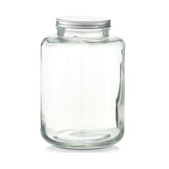 Barattolo in vetro con coperchio in metallo 7l