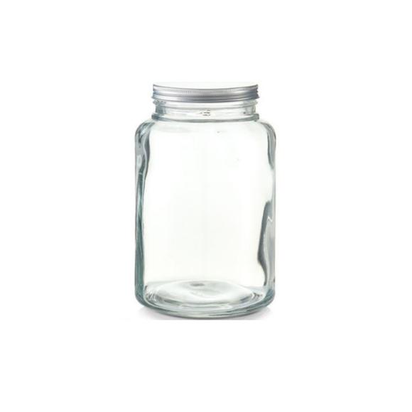 Barattolo in vetro con coperchio in metallo 4,9L