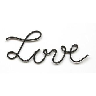 Mot love métal noir 22x7,2cm