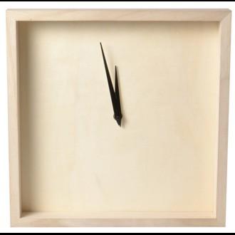 Horloge bois carrée 33x33x4cm