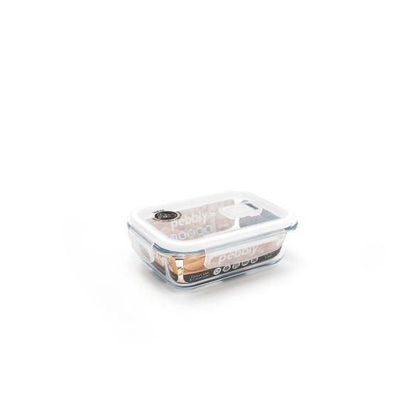Contenitore rettangolare vetro per conservare gli alimenti 650ml
