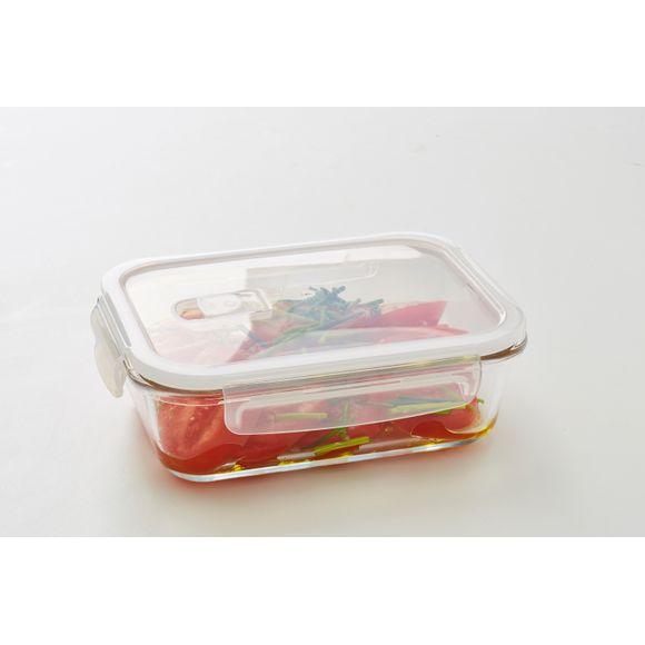 Contenitore rettangolare vetro per conservare gli alimenti 1000ml