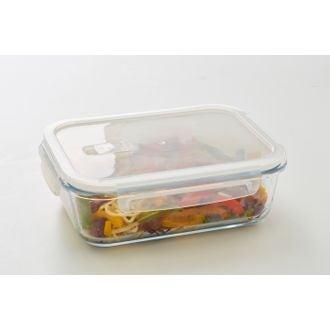 Contenitore rettangolare vetro per conservare gli alimenti 1500ml