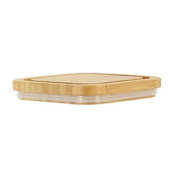 Barattolo in plastica, con coperchio in bambù 1,7L